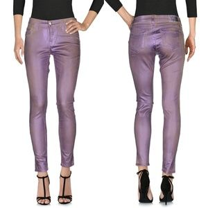 NWT True Religion Halle metallic coated jeans